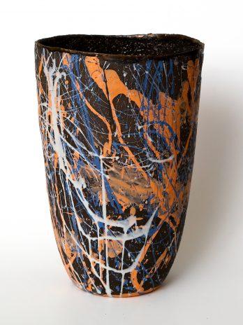Modern Dark Clay Vase