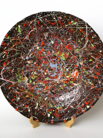 Pollock inspired Wall Plate 3